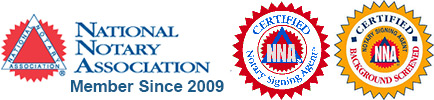 Notary Association Certified and Background Checked
